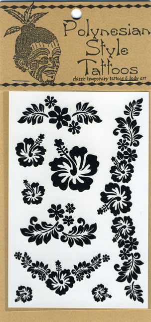 T18 Hibiscus Temporary Tattoos Qty: Price: $4.00