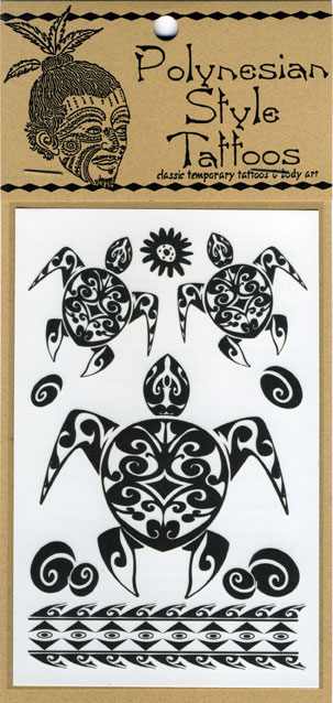 Out of Stock T22 Tahitian Honu Temporary Tattoos Qty: Price: $4.00